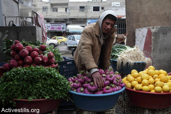 ירקות בשוק בעזה, פברואר 2012 (אן פאק/אקטיבסטילס)