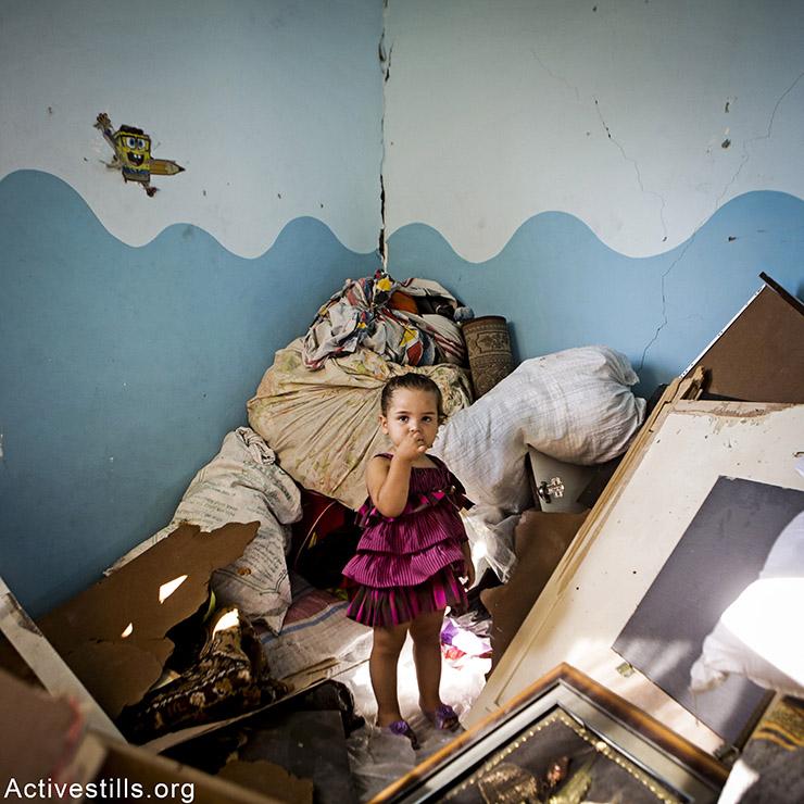 מאלאק, בת 3, מהעיר עזה. מתגעגעת לבובה שלה. אן פאק/אקטיבסילס