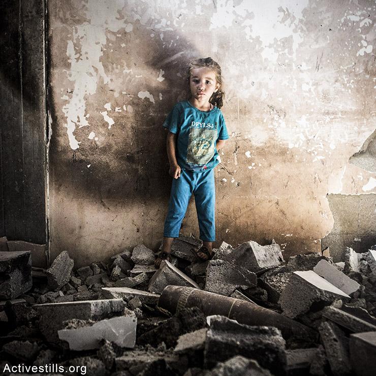 מאלאק, בת 4, עזה, יולי 2014.  אן פאק/אקטיבסטילס