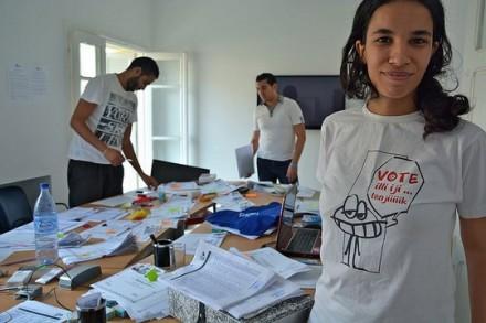 תוניסיה, מטה בחירות (Atlantic Council CC BY-NC-ND 2.0)