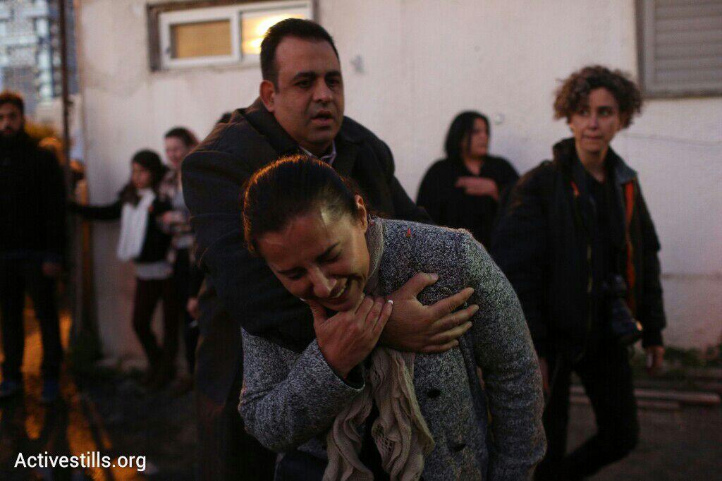 אחרי פינוי אחד הבתים, פינוי בגבעת עמל, תל אביב, 29 דצמבר 2014. אקטיבסטילס