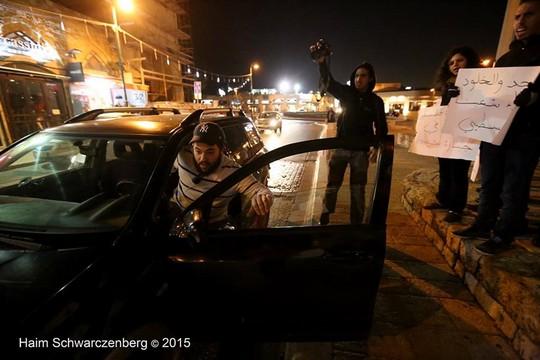 הפגנה ביפו נגד אלימות משטרתית כלפי אזרחים פלסטינים (צילום: חיים שוורצנברג)