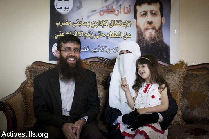 חאדר עדנאן עם שחרורו ב-2012 (אורן זיו / אקטיבסטילס)