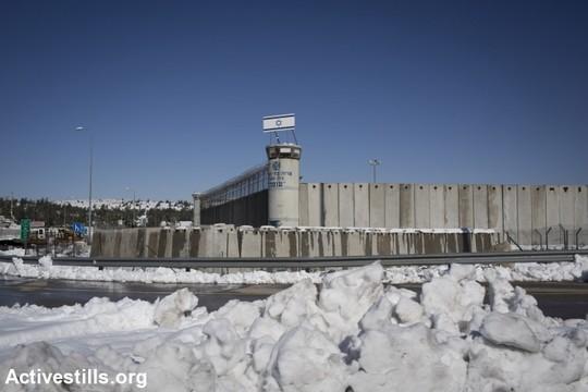 כלא עופר בשלג (אורן זיו / אקטיבסטילס)