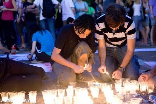 הפגנה לאחר הרצח בברנוער (יותם רונן/אקטיבסטילס)