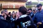 פעילי שוברים שתיקה ומרצ מפגינים המחאה על ביקורו של הנשיא ריבלין בחברון (צילום: דנה לוטן, שוברים שתיקה)