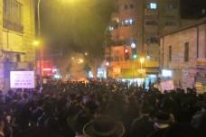 הפגנת חרדים נגד כליאת סרבני הגיוס בירושלים, אתמול (הוועדה להצלת התורה)