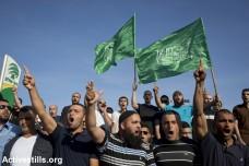 מפגיני התנועה האסלאמית, הפלג הצפוני, מוחים על פגיעה במסגד באום אל-פחם (אורן זיו / אקטיבסטילס)