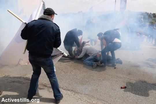 הפגנת יום האדמה ה-39 בשכם (אחמד אל-באז/אקטיבסטילס)