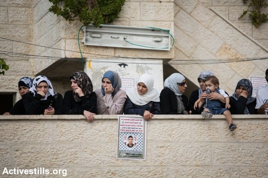 נשים בבית משפחת מוחמד סנוקרוט בוואדי ג׳וז, מזרח ירושלים, ה-7 לספטמבר, 2014. (אורן זיו/אקטיבסטילס)