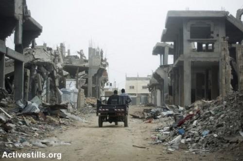 מזרח העיר עזה, שישה חודשים לאחר המתקפה הישראלית על הרצועה. פברואר 2015. (אן פאק/אקטיבטילס)