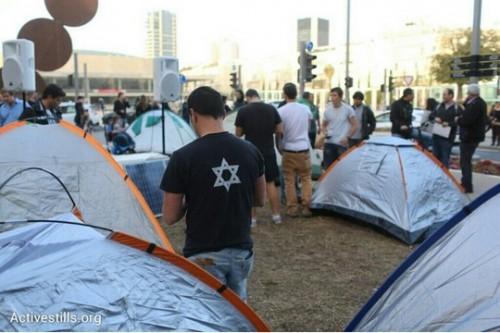 אוהלי המחאה חוזרים לשדרות רוטשליד. צילום: אורן זיו / אקטיבסטילס