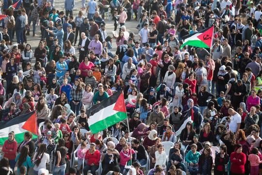 יום האדמה ה-39. אלפים צעדו בדיר חנא. 30 במרץ 2015 (יותם רונן/אקטיבסטילס)
