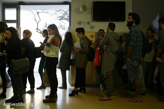 מצביעים בקלפי לבעלי מוגבלויות, תל אביב (אורן זיו / אקטיבסטילס)