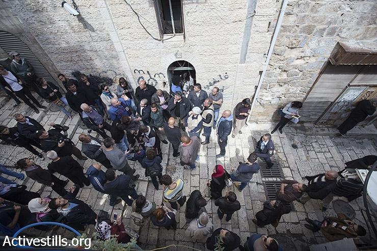 הכניסה לבית משפחת סוב לבן, ירושלים (פאיז אבו-רמלה / אקטיבסטילס)