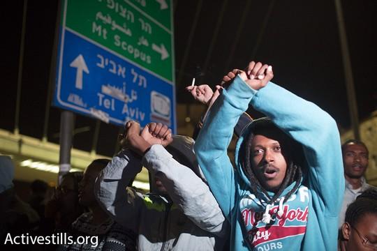 מחאת הקהילה האתיופית נגד אלימות משטרתית (אורן זיו/אקטיבסטילס)