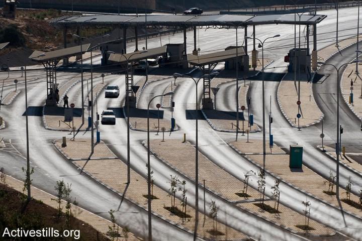 המחסום בכביש המנהרות ליד בית לחם (אורן זיו/אקטיבסטילס)