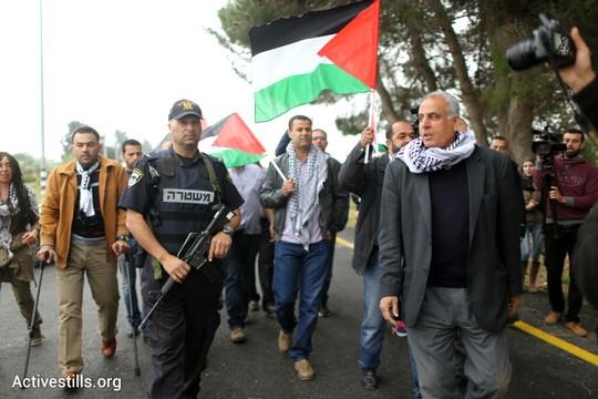 """עשרות פלסטינים הפגינו מול """"מרתון התנ""""ך הראשון"""" בשטחים הכבושים (אורן זיו/אקטיבסטילס)"""