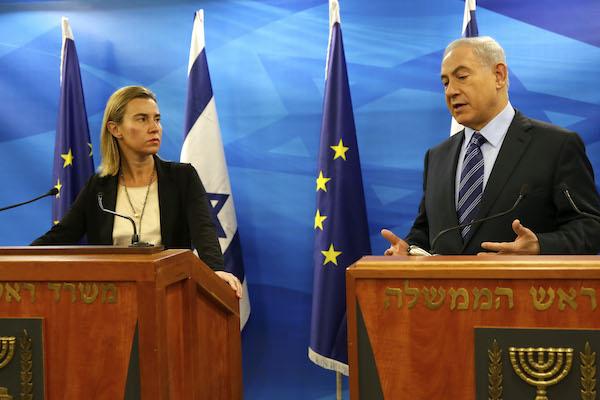 שרת החוץ של האיחוד האירופאי פרדריקה מוגריני וראש הממשלה נתניהו, נובמבר 2014 (צילום: האיחוד האירופאי)