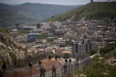 גבול ישראל-סוריה 2011. חיילים בסיור ליד מג'דל שמס (אורן זיו/אקטיבסטילס)