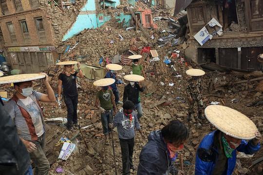 עיר בצפון נפאל אחרי רעידת האדמה. 28 באפריל 2015 (צילום: Laxmi Prasad Ngakhusi / UNDP Nepal פליקר CC BY-NC-ND 2.0)