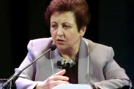 כלת פרס נובל לשלום, עורכת הדין ופעילת זכויות האדם האיראנית, שירין עבאדי. (Persian-Dutch-Network CC BY-SA 4.0)