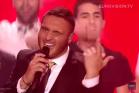 נדב גדג', חצי גמר האירוויזיון בווינה (צילום מסך מדף האירוויזיון ביו-טיוב)