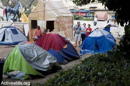 מאהל מחאה דיור ציבורי, ירושלים 2007 (קרן מנור/אקטיבסטילס)