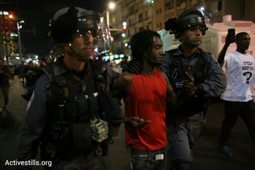 בתמונות: סמויים, מעצרים ועימותים בהפגנת יוצאי אתיופיה