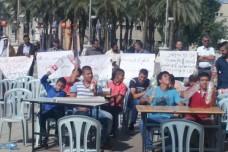 הפגנת ועד ההורים של ג'בל מוכר בכיכר ספרא (אביב טטרסקי)