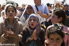 מאות השתתפו בהפגנה נגד הריסת הכפר סוסיא (קרן מנור/אקטיבסטילס)
