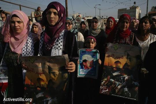 מאות השתתפו בצעדה לציון שנה להרצחו של מוחמד אבו-ח'דיר. ירושלים המזרחית, 2 ביולי 2015 (אורן זיו/אקטיבסטילס)