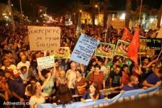 הפגנה נגד מתווה הגז, תל אביב (אורן זיו / אקטיבסטילס)