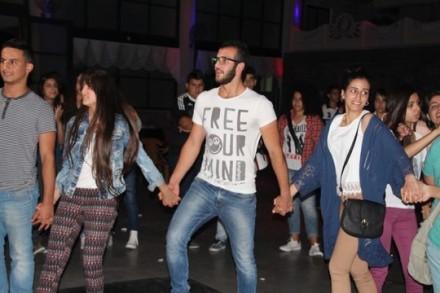 ריקוד דבקה מעורב, אום אלפחם. מהאירוע שפתח את גל האיומים (יחיא ג'בארין, אתר arab48 )