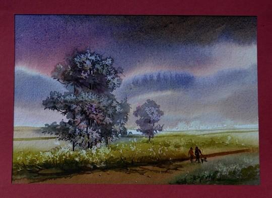 ציור של ג'יוואן שמוצג ביפו (צילום: אפרת שקד)