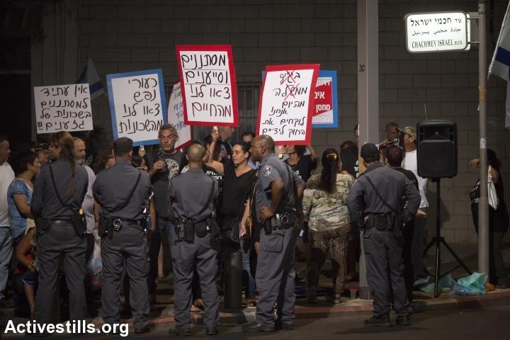 הפגנת תושבים בדרום תל אביב נגד מסתננים וסמולנים (אורן זיו / אקטיבסטילס)