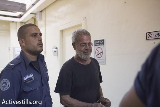 דוד ריב מובא לדיון בבית המשפט בירושלים (אורן זיו/אקטיבסטילס)