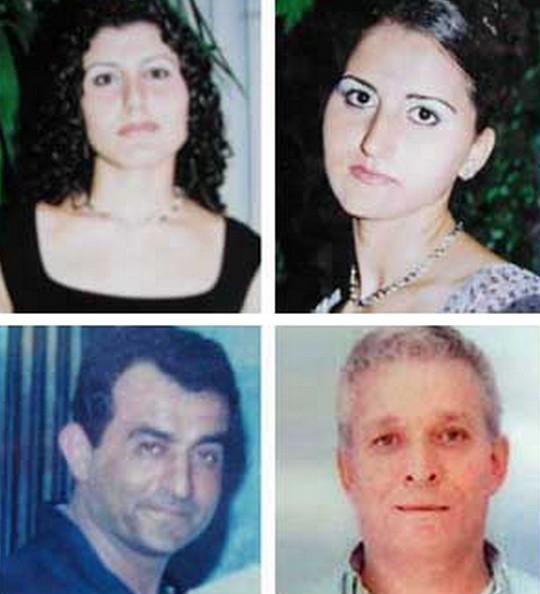 קורבנות הטבח בשפרעם, האחיות הזאר ודינא תורקי, נהג האוטובוס מישל בחות' ונאדר חאיק