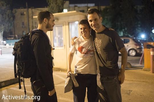שרית מיכאלי משתחררת  ממעצר בנווה תרצה לאחר שבית המשפט החליט כי לא היתה עילה למעצר. 22 באוגוסט 2015. (אורן זיו/אקטיבסטילס)