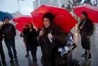 """ד""""ר אנני ספרינקל בהפגנה למען זכויות עובדות מין (Steve Rhodes CC BY-NC-ND 2.0)"""