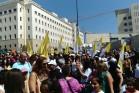 אלפי מפגינים מול משרד ראש הממשלה בירושלים במחאה על הפגיעה בתקציבי בתי הספר הכנסייתיים