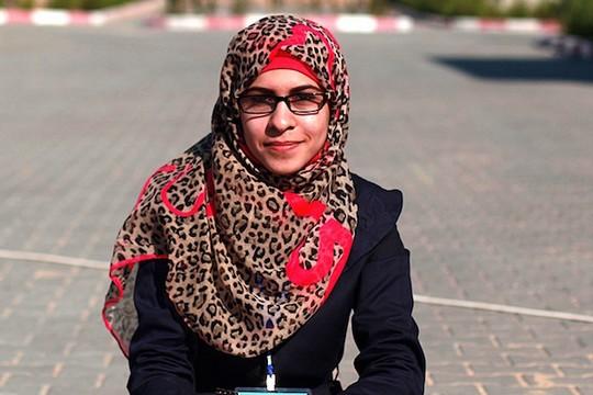 שורוק עאילה, בת 20, מחנה פליטים ג'באליה. (שורוק עאילה)