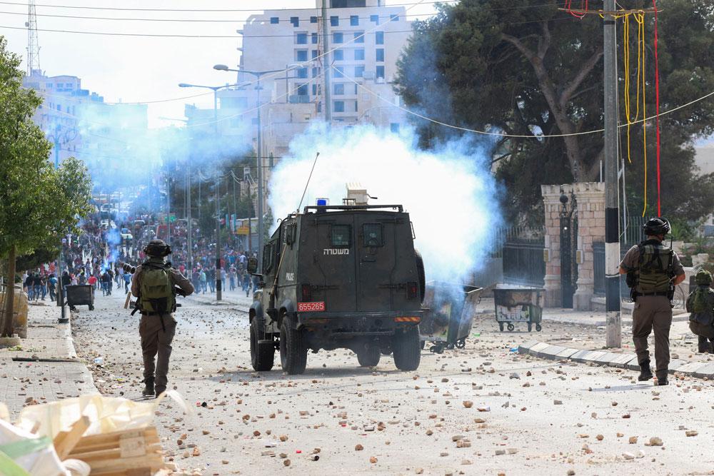 עימותים לאחר מותו של ילד בן 13 מירי הצבא, בית לחם (מוחמד סלים / אקטיבסטילס)