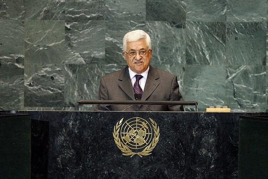 """מחמוד עבאס בעצרת הכללית של האו""""ם, 2009 (מרקו קסטרו)"""