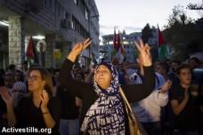 הפגנה בנצרת בתמיכה בפלסטינים ובאל-אקצא (עומר סמיר / אקטיבסטילס)