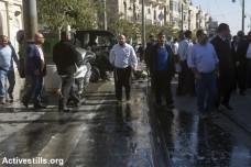 זירת האירוע בו שתי נערות פלסטיניות דקרו קשיש פלסטיני עם מספריים. אחת נורתה למוות, השנייה נפצעה (אן פאק / אקטיבסטילס)