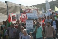 הפגנה ישראלית- פלסטינית במחסום: לסיים את הכיבוש בלי אלימות
