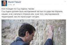 צילום מסך מתוך עמוד הפייסבוק של יצחק הרצוג ברוסית