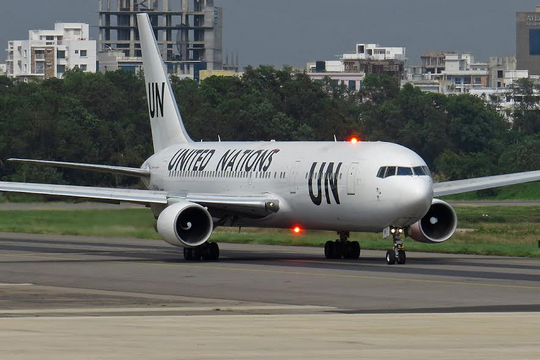 """בואינג 767 של האו""""ם בבנגלדש (Shadman al Samee/www.jetphotos.net)"""