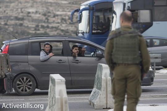 המתנחלים לא התחברו. הפגנה ישראלית-פלסטינית סמוך למחסום המנהרות (אורן זיו/אקטיבסטילס)